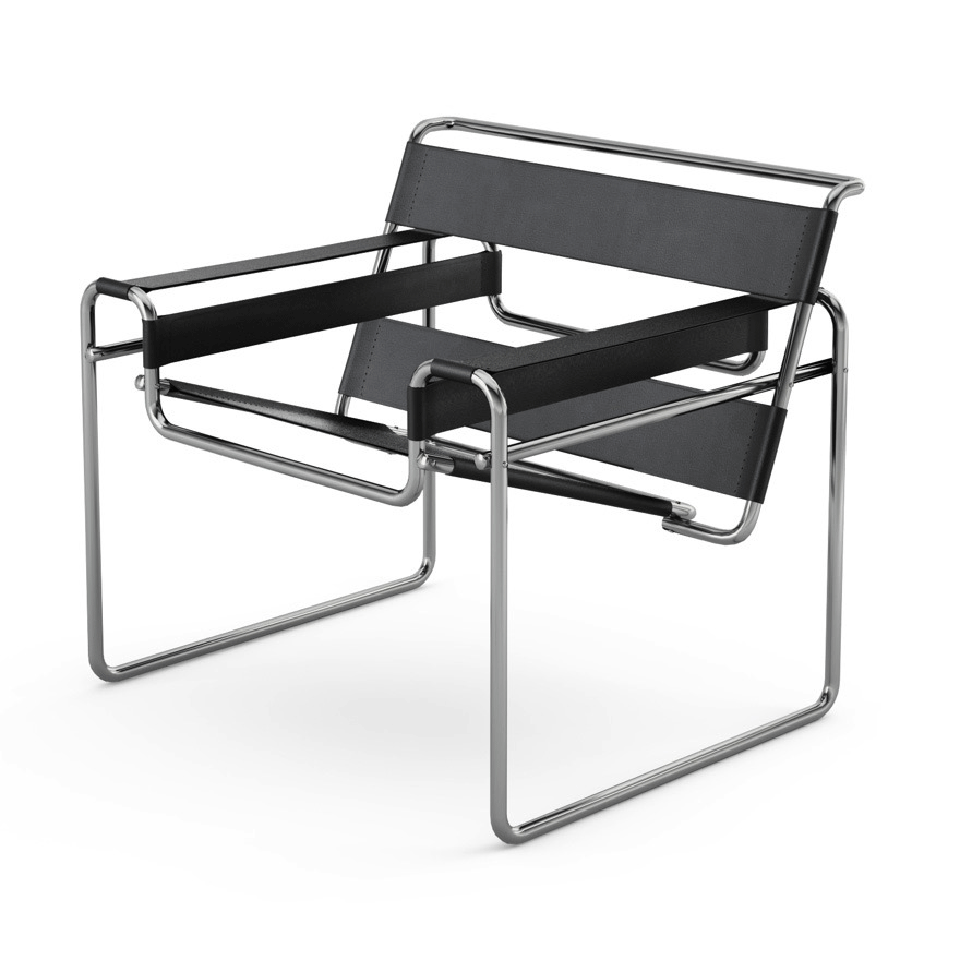 Knoll - Wassily Chair - Black Belting Leather / One Size - Lekker Home ...  sc 1 st  Lekker Home : wassily chairs - lorbestier.org