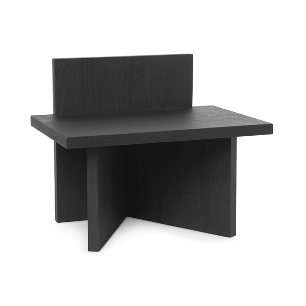 Ferm Living - Oblique Stool - Black Stained Ash / One Size - Lekker Home