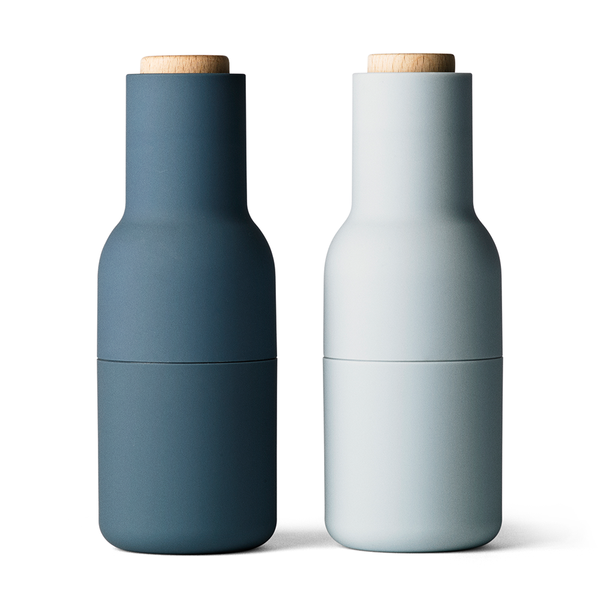 Menu A/S - Bottle Grinder - Set of 2 - Blues / Light Wood - Lekker Home