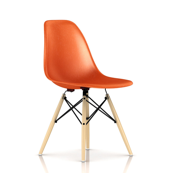 Herman Miller - Eames® Molded Fiberglass Side Chair - Wood Dowel Base - Lekker Home
