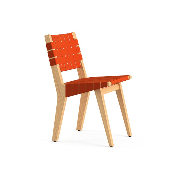 Knoll - Risom Child's Side Chair - Orange / Webbed Back - Lekker Home