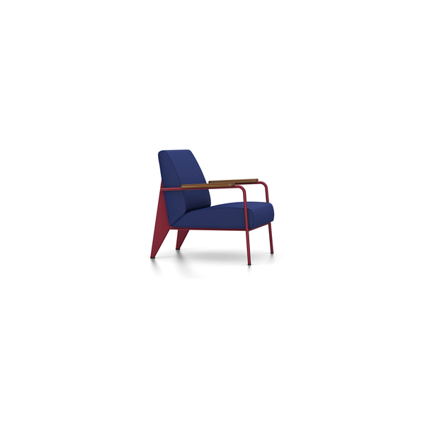 Vitra - Fauteuil de Salon - Twill Ink Blue / Japanese Red - Lekker Home
