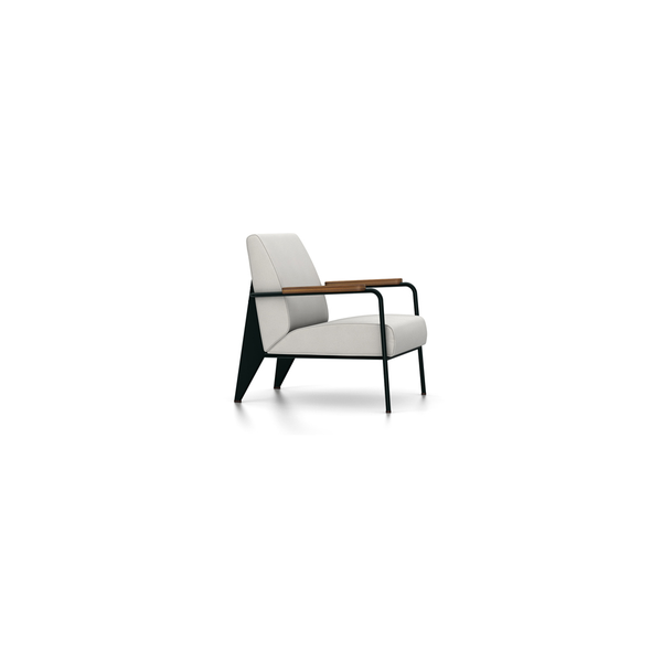 Vitra - Fauteuil de Salon - Twill Light Grey / Deep Black - Lekker Home