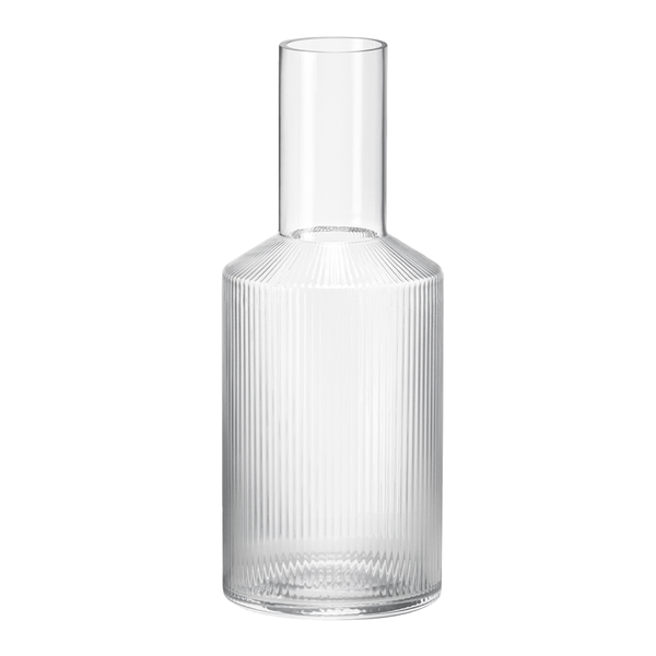 Ferm Living - Ripple Carafe - Clear / One Size - Lekker Home