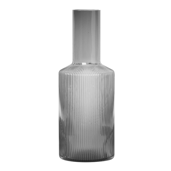 Ferm Living - Ripple Carafe - Smoked / One Size - Lekker Home