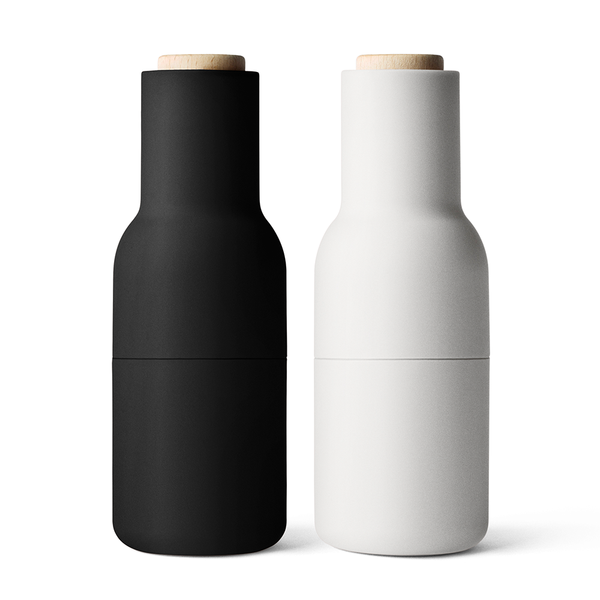Menu A/S - Bottle Grinder - Set of 2 - Carbon + Ash / Light Wood - Lekker Home