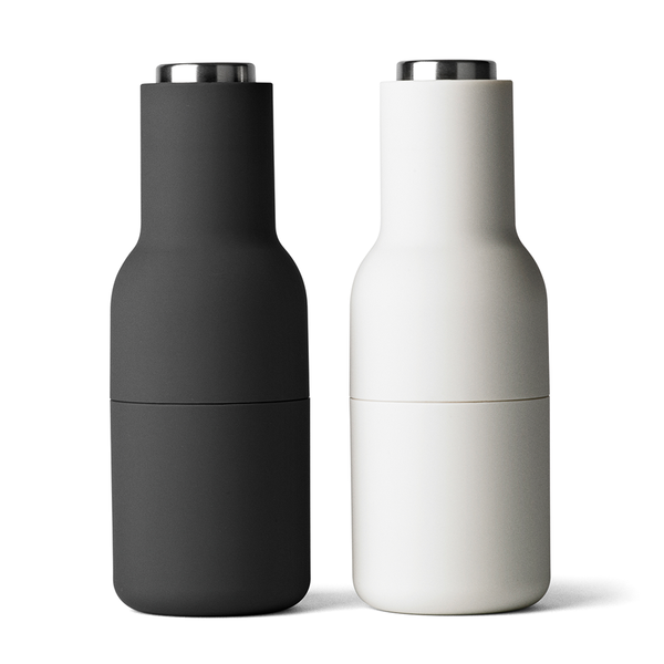 Menu A/S - Bottle Grinder - Set of 2 - Carbon + Ash / Stainless Steel - Lekker Home