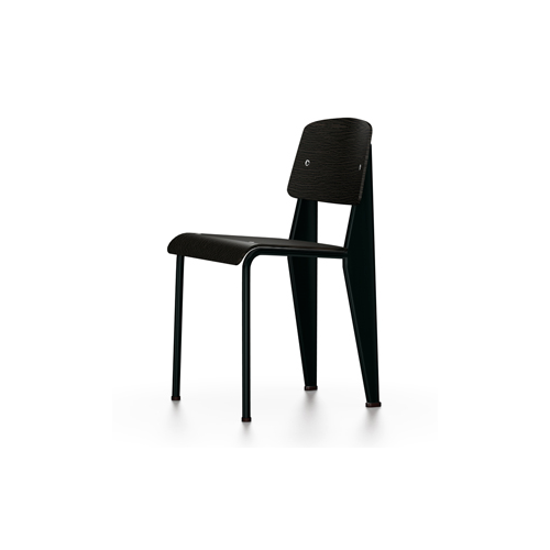 Vitra - Standard Chair - Deep Black / Dark Oak - Lekker Home