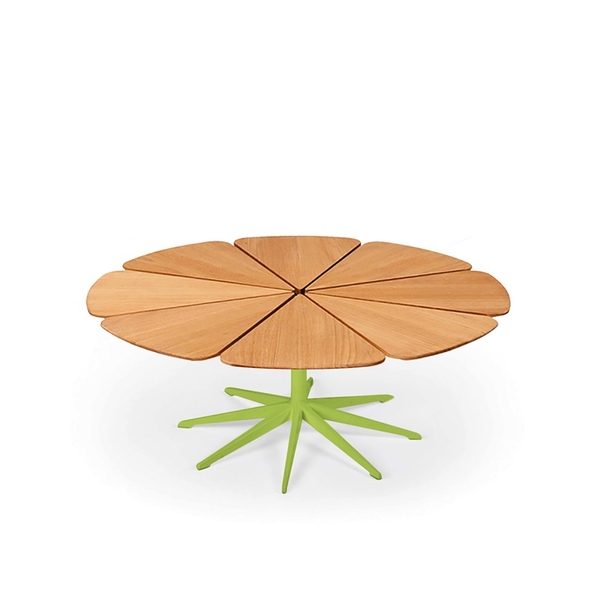 Knoll - Petal® Coffee Table - Lime Green / Teak Petals - Lekker Home