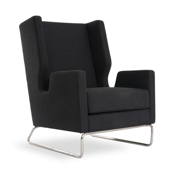 Gus Modern - Danforth Chair - Urban Tweed Ink / One Size - Lekker Home