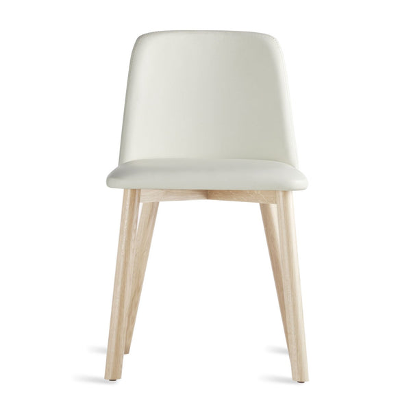 Blu Dot - Chip Dining Chair - White Leather / Whitewashed Ash - Lekker Home