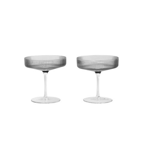 Ferm Living - Ripple Champagne Saucer Set - Lekker Home