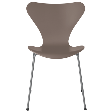 Fritz Hansen - Series 7 Side Chair- Color - Lacquered Deep Clay / Silver Grey - Lekker Home
