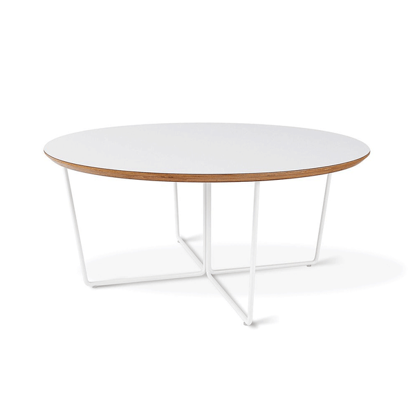 Gus Modern - Array Coffee Table - White / Round - Lekker Home