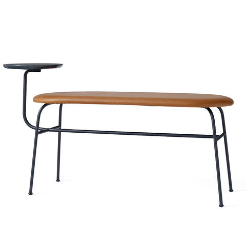 Menu A/S - Afteroom Bench - Black Leather / Black - Lekker Home