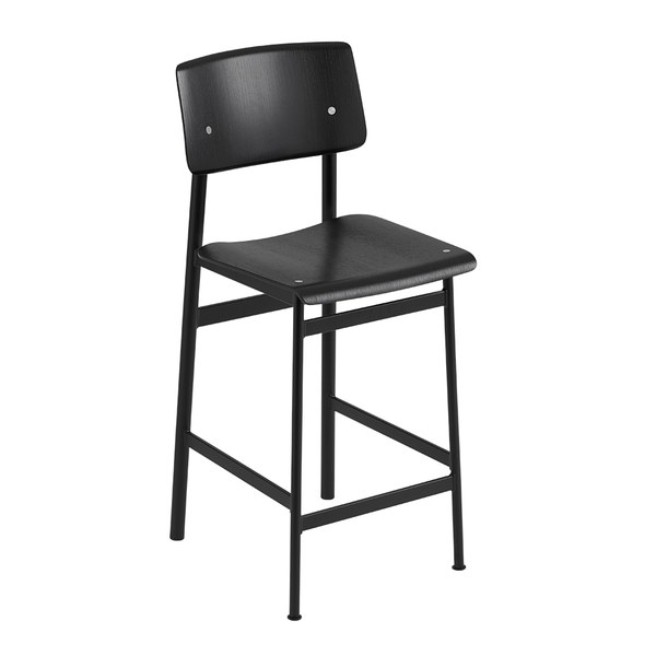 Muuto - Loft Counter Stool - Black / Black - Lekker Home