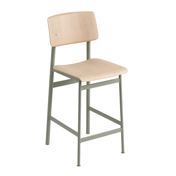 Muuto - Loft Counter Stool - Dusty Green / Oak - Lekker Home