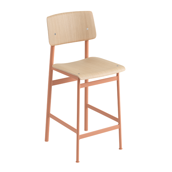 Muuto - Loft Counter Stool - Dusty Rose / Oak - Lekker Home