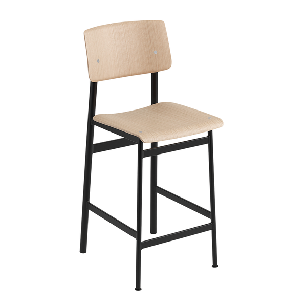 Muuto - Loft Counter Stool - Black / Oak - Lekker Home