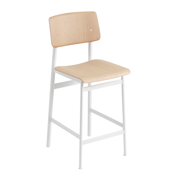Muuto - Loft Counter Stool - White / Oak - Lekker Home