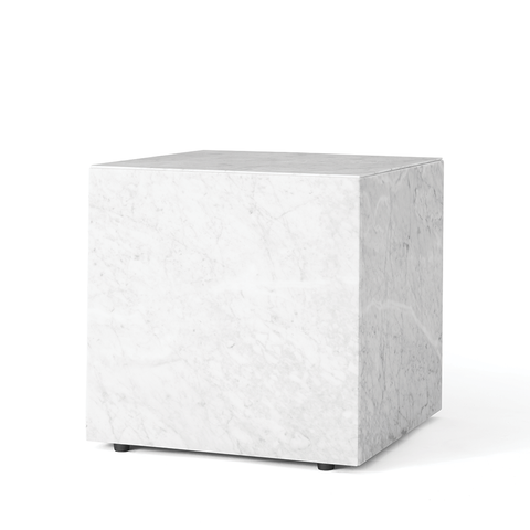 Menu A/S - Plinth Side Table - White / Cubic - Lekker Home