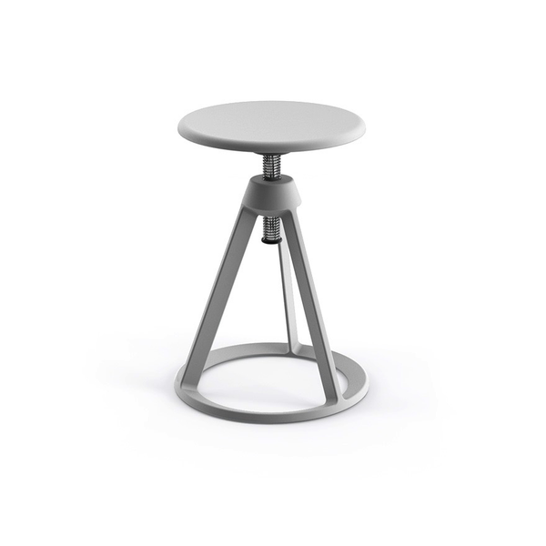 Knoll - Piton™ Adjustable Height Stool - Sterling / Sterling - Lekker Home