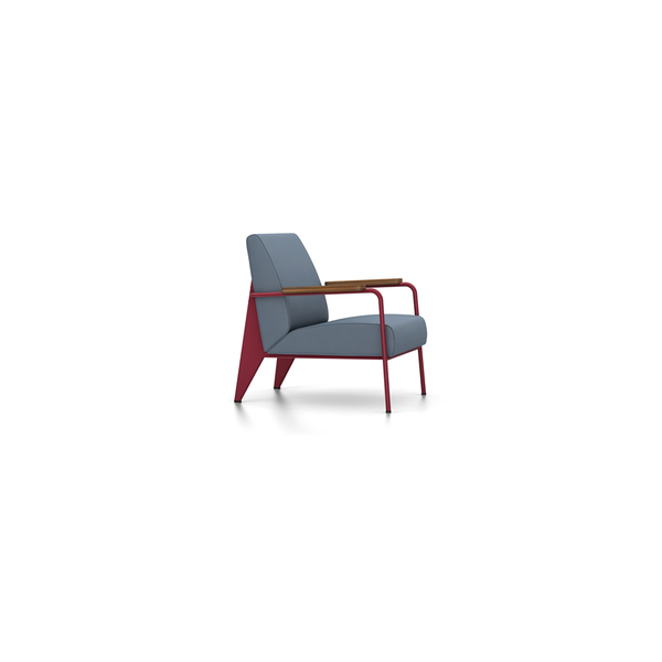 Vitra - Fauteuil de Salon - Twill Blue-Grey / Japanese Red - Lekker Home