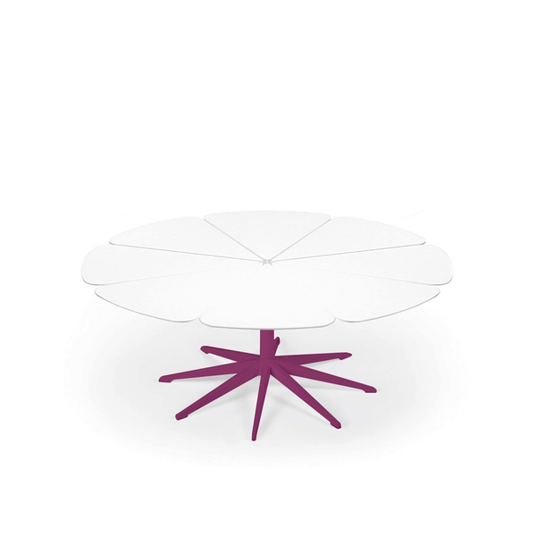 Knoll - Petal® Coffee Table - Plum / White Petals - Lekker Home