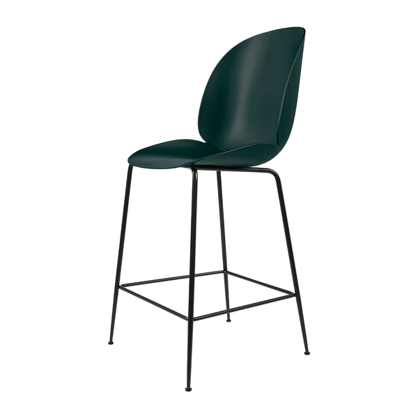 GUBI - Beetle Counter Stool - Dark Green / Matte Black - Lekker Home