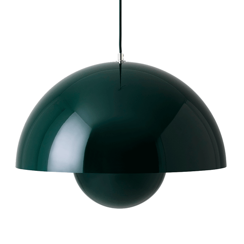 &Tradition - VP2 Flowerpot Pendant - Dark Green / One Size - Lekker Home