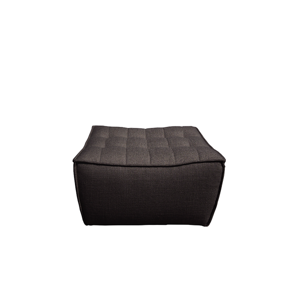 Ethnicraft NV - N701 Footstool - Dark Grey / One Size - Lekker Home