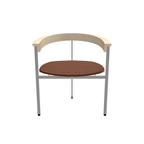 Fritz Hansen - PK11™ - Elegance Leather Walnut / Brushed Stainless Steel - Lekker Home