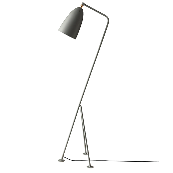 GUBI - Gräshoppa Floor Lamp - Dusty Blue Semi Matte / One Size - Lekker Home