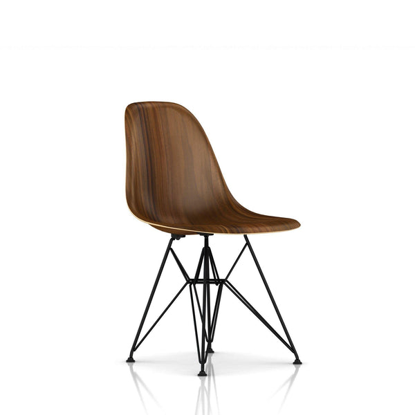 Herman Miller - Eames® Molded Wood Side Chair - Wire Base - Santos Palisander / Black - Lekker Home