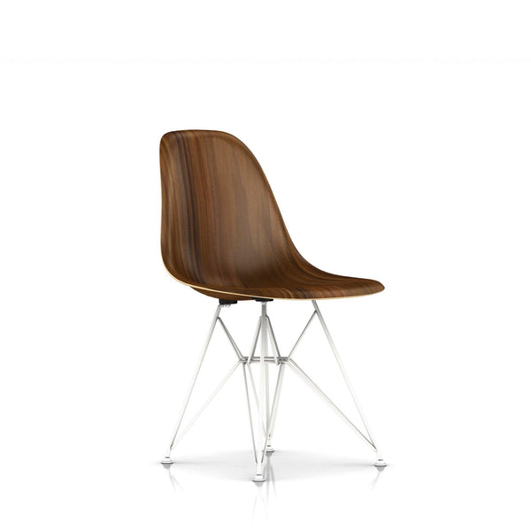 Herman Miller - Eames® Molded Wood Side Chair - Wire Base - Santos Palisander / White - Lekker Home