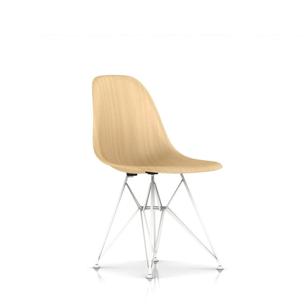Herman Miller - Eames® Molded Wood Side Chair - Wire Base - White Ash / White - Lekker Home