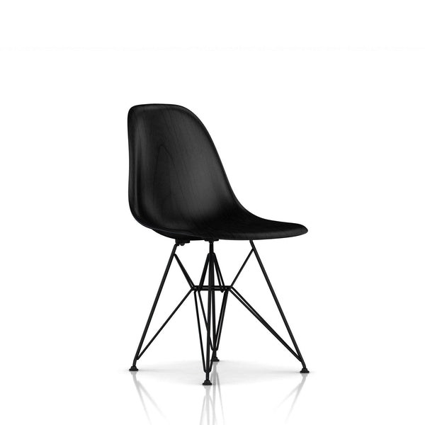 Herman Miller - Eames® Molded Wood Side Chair - Wire Base - Ebony / Black - Lekker Home