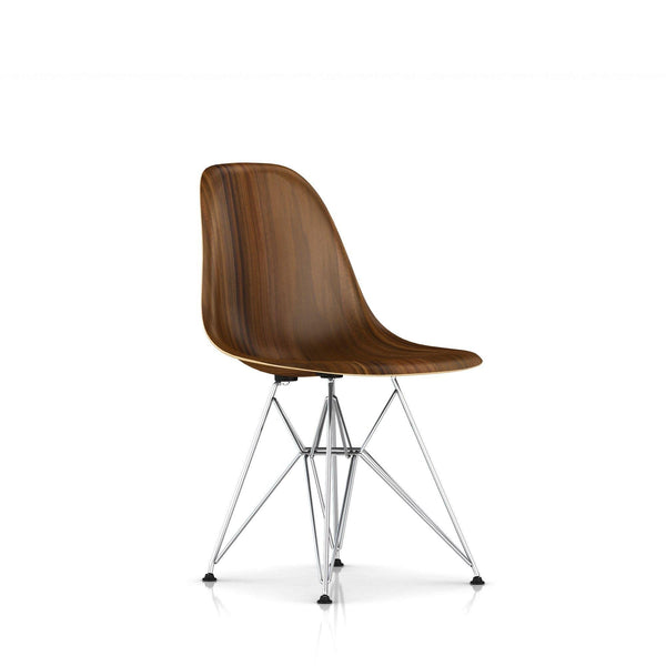 Herman Miller - Eames® Molded Wood Side Chair - Wire Base - Santos Palisander / Trivalent Chrome - Lekker Home