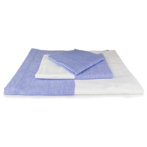 Yoshii Towel - Two Tone Chambray Towels - Blue 1 / Bath Towel - Lekker Home