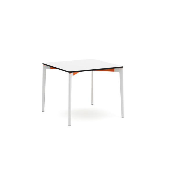 "Knoll - Stromborg Table Square 36"" - Orange / Bright White Laminate - Lekker Home"