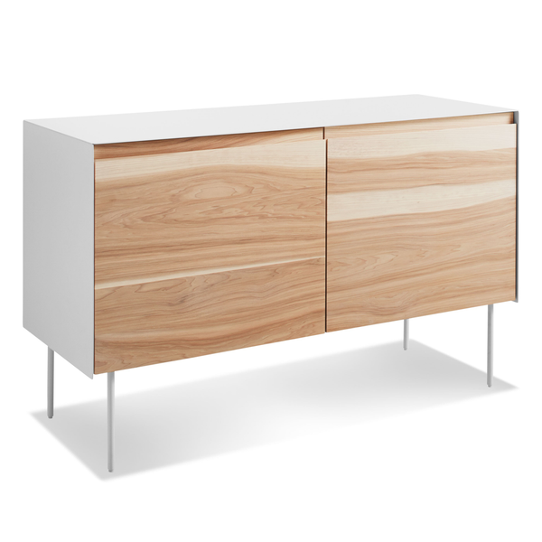 Blu Dot - Clad Credenza - Hickory/White / 2 Door - Lekker Home