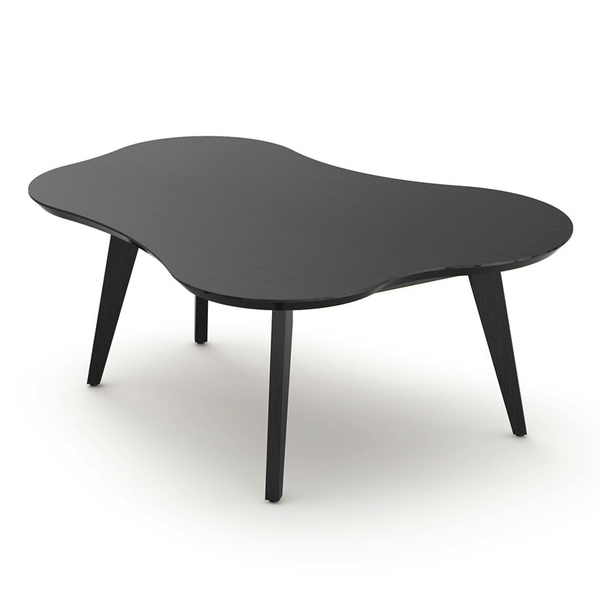 Knoll - Risom Amoeba Coffee Table - Ebonized Maple / One Size - Lekker Home