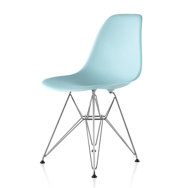 Eames® Molded Plastic Side Chair - Wire Base by Herman Miller ...