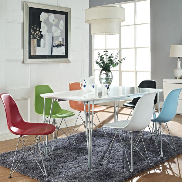 Nice ... Eames® Molded Plastic Side Chair   Wire Base ...
