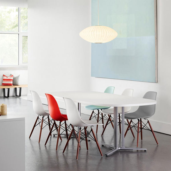 Molded Plastic Dining Chairs eames® molded plastic side chair - wood dowel baseherman