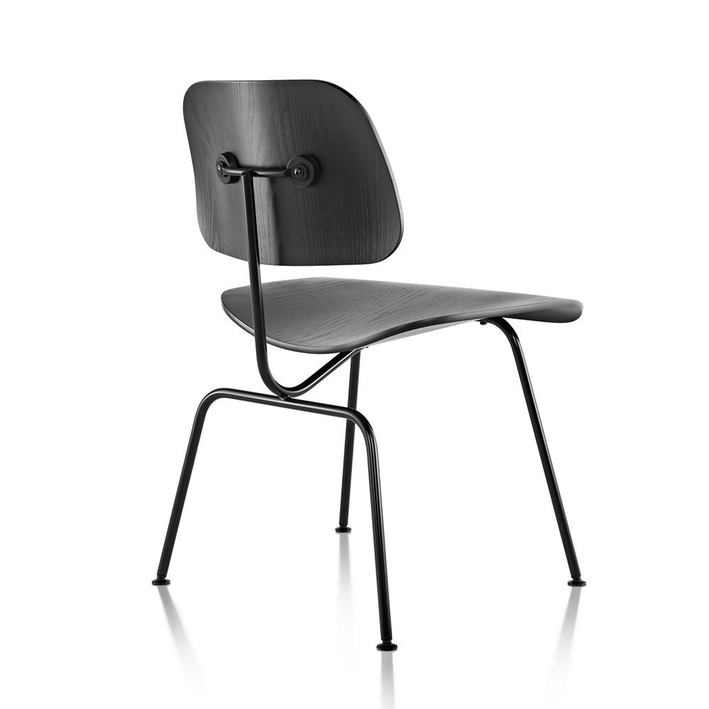 Eames molded plywood dining chair metal base by herman for Eames molded dining chair