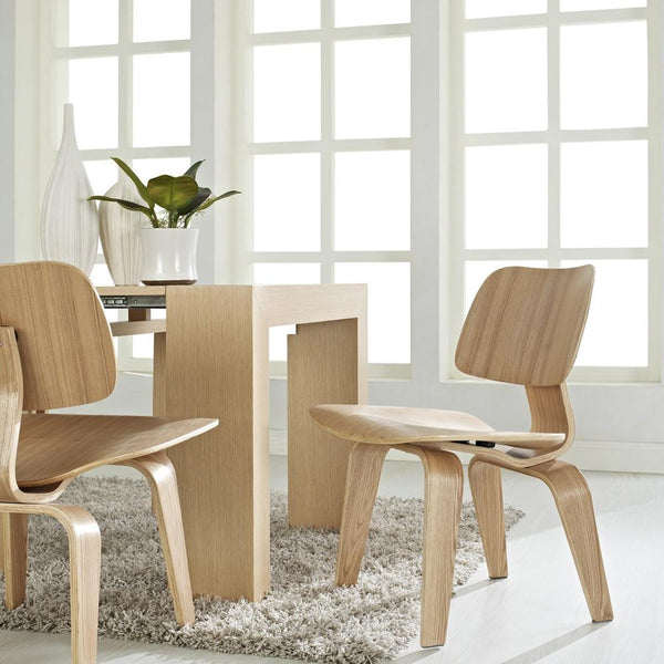 Eames® Molded Plywood Dining Chair - Wood Base by Herman Miller