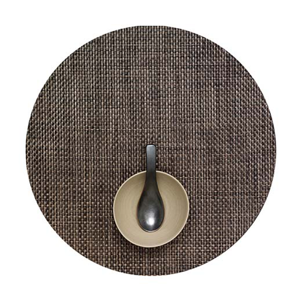 Chilewich - Basketweave Placemat - Earth / Round - Lekker Home