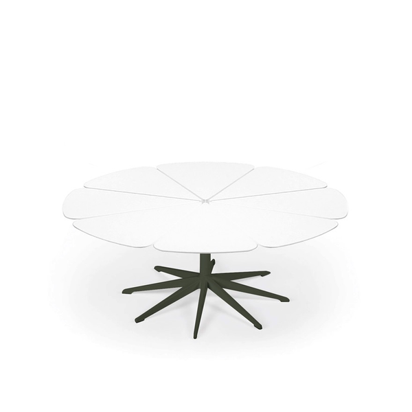 Knoll - Petal® Coffee Table - Green / White Petals - Lekker Home