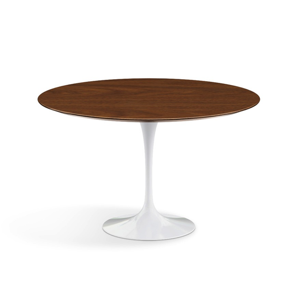 "Knoll - Saarinen Dining Table 47"" Round - Light Walnut / White - Lekker Home"